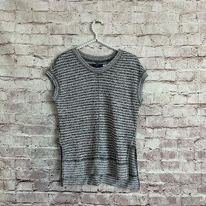 Madewell XS High Low Sleeveless Sweater Striped